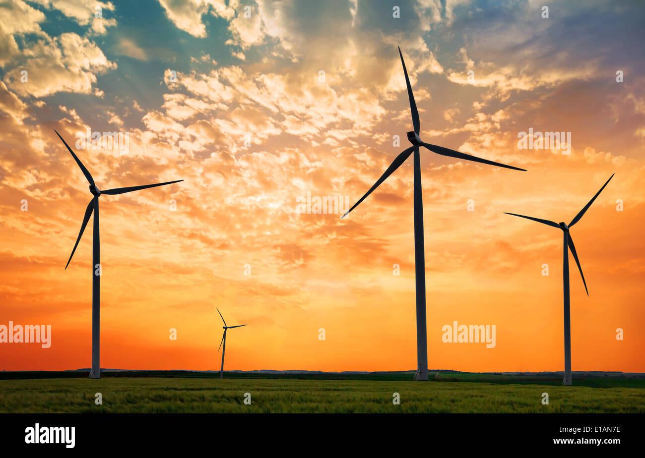 Centrale électrique écologique Photo Stock