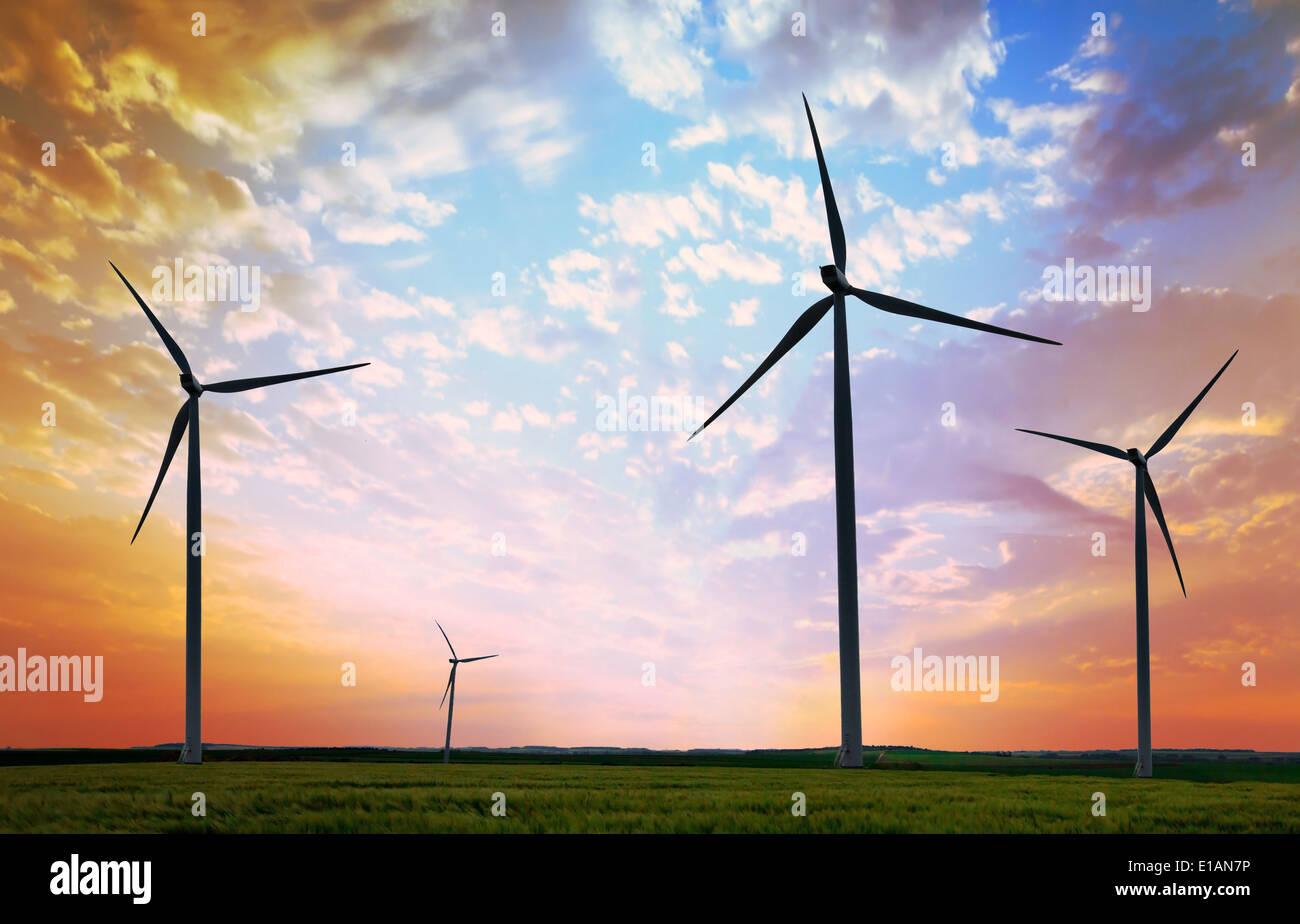 éoliennes Photo Stock