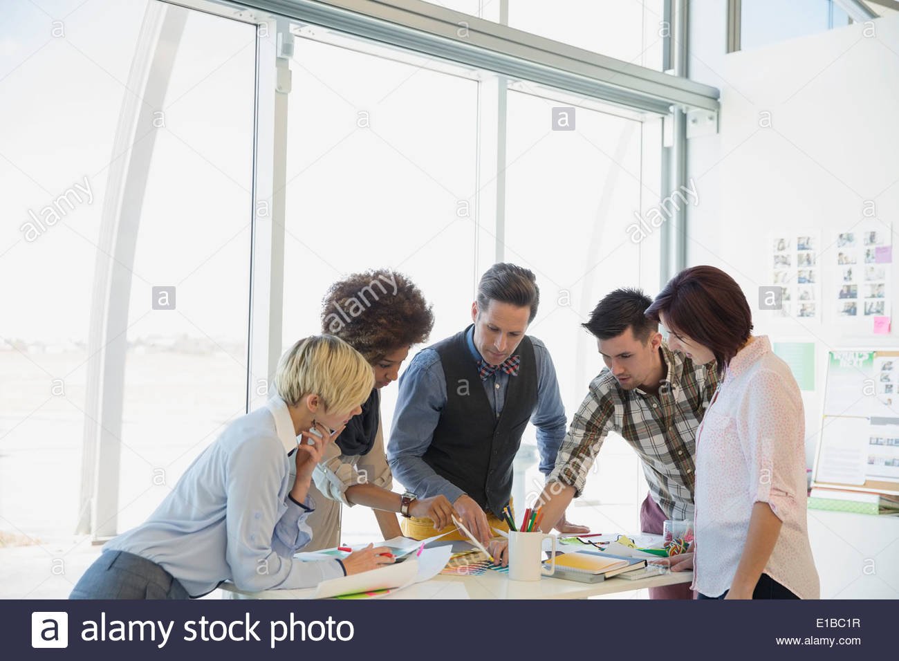 Creative business people in office Photo Stock