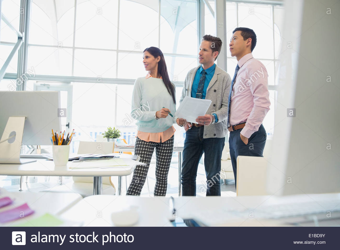 Les gens d'affaires meeting in office Photo Stock