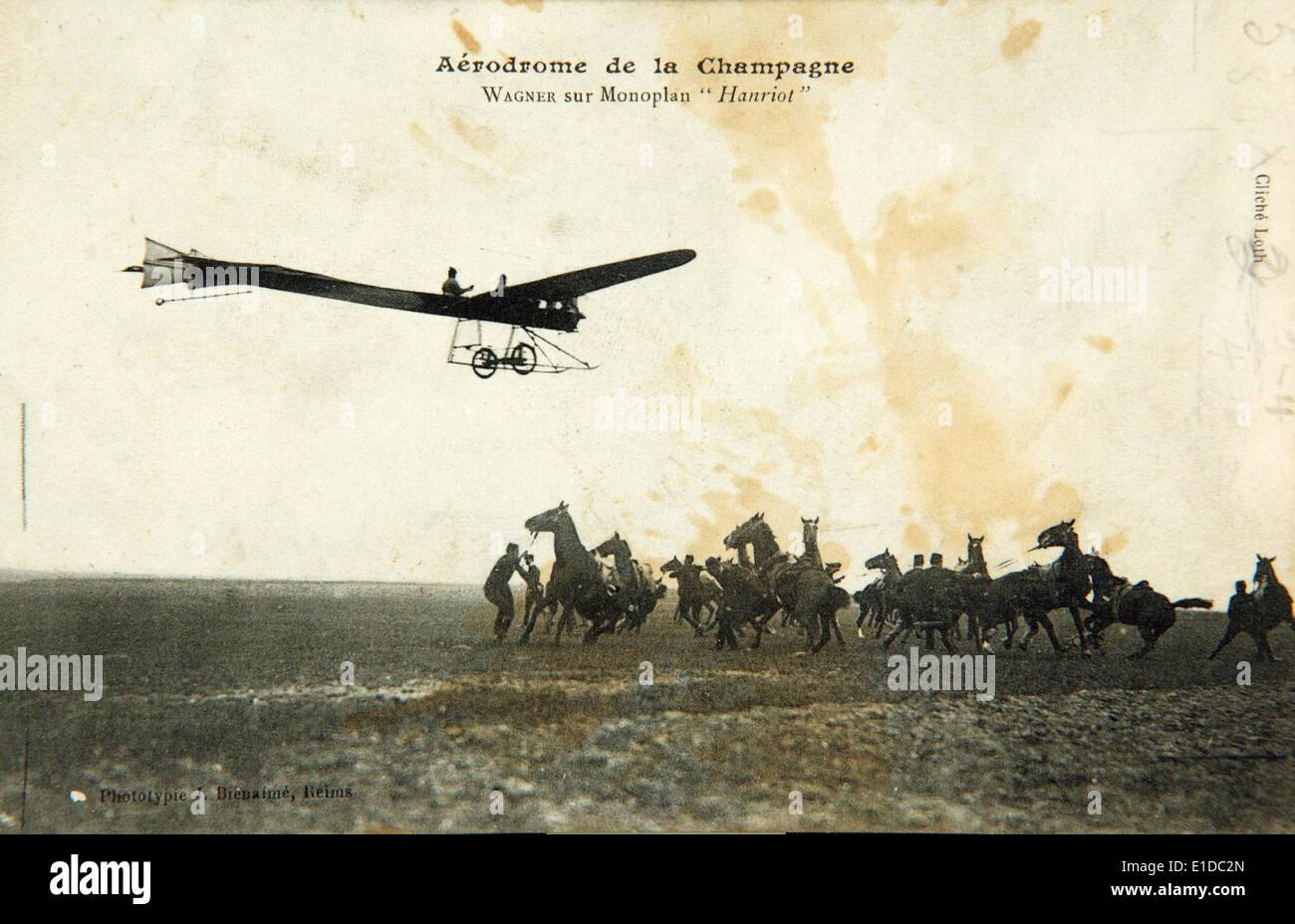 Monoplan Hanriot 1910 Banque D'Images