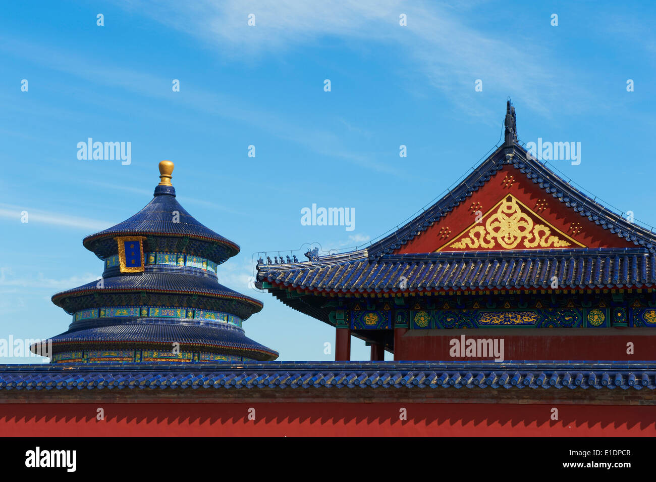 La Chine, Pékin, Temple du Ciel, Unesco world heritage Photo Stock