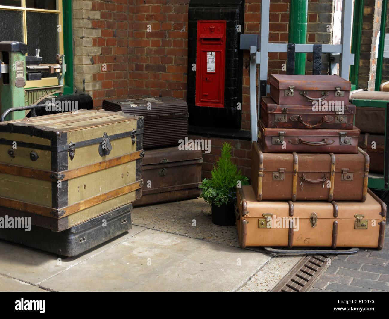 Assurance sur l'antan Sheringham, gare, North Norfolk, au Royaume-Uni. Banque D'Images