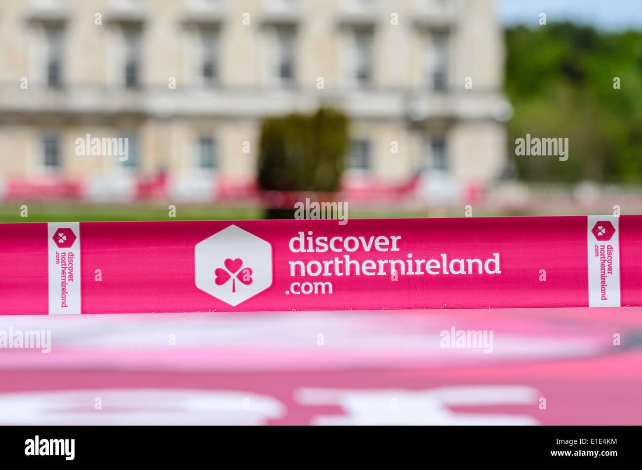 Découvrez l'Irlande du Nord bande discovernorthernireland.com Photo Stock