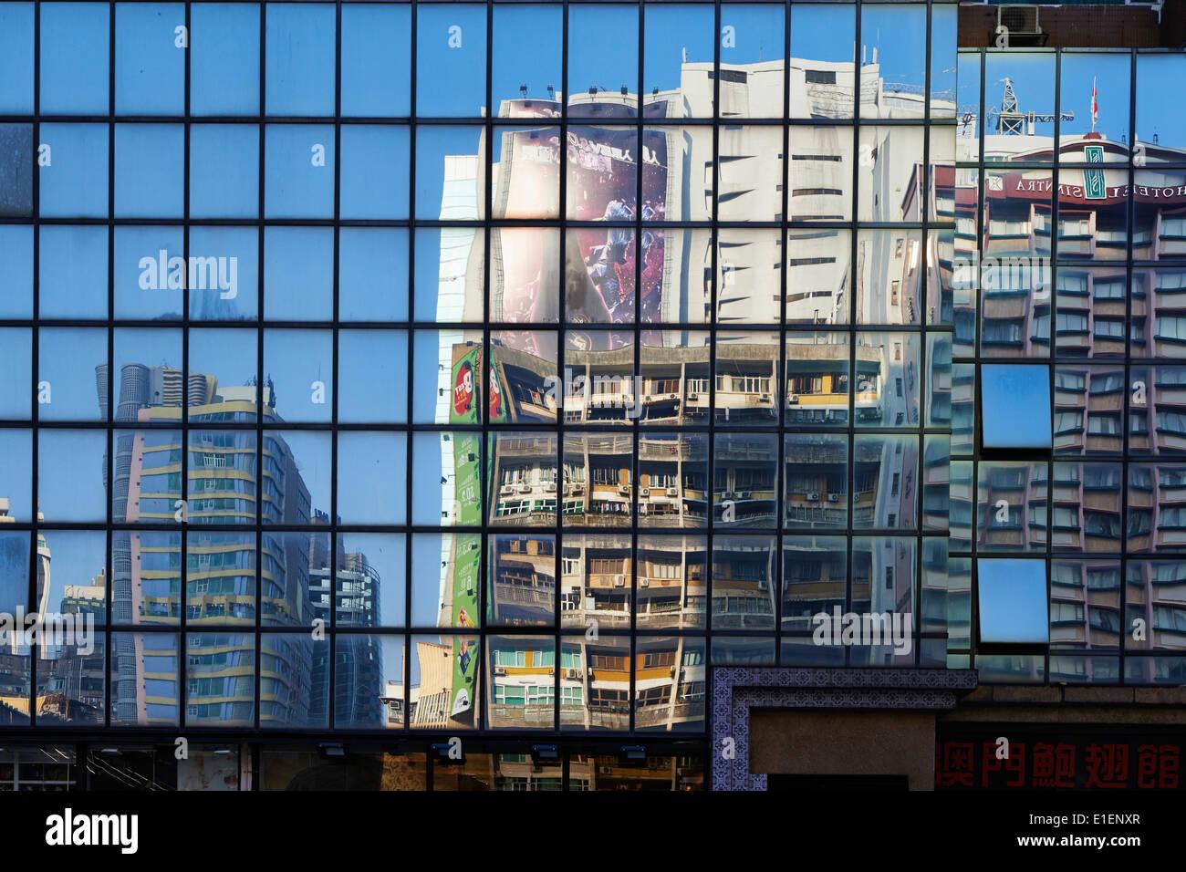 La Chine, Macao, l'architecture Photo Stock
