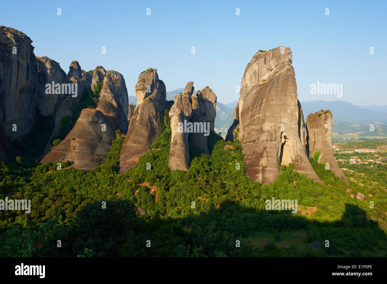 La Grèce, la Thessalie, Météores, Unesco World Hertitage Photo Stock