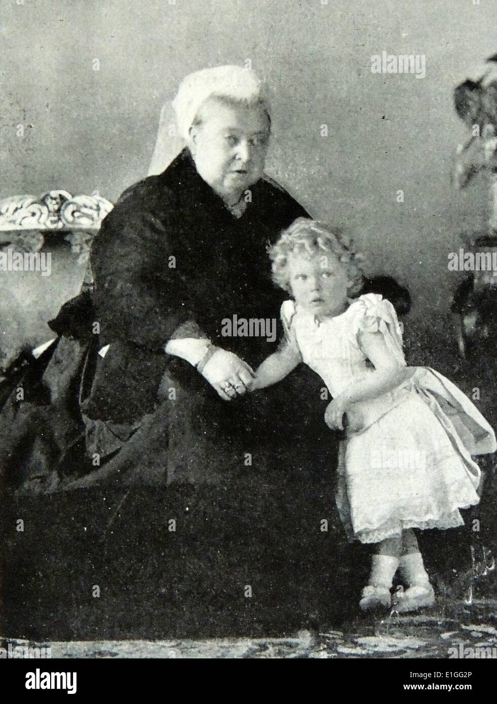 La reine Victoria et le petit-enfant Photo Stock