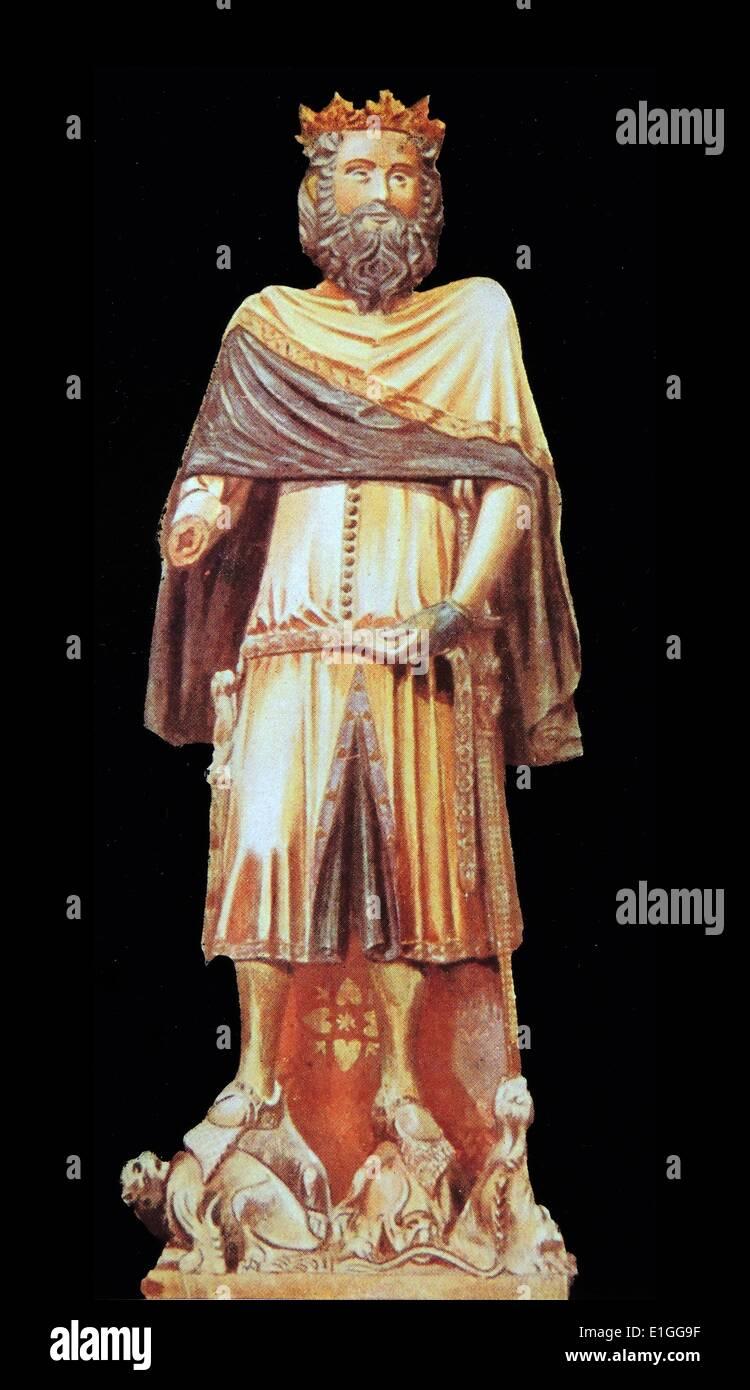 Statue représentant Ramiro I d'Aragon Photo Stock