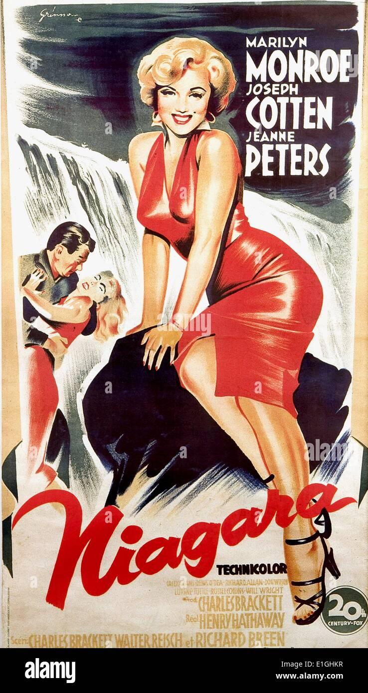 'Un' Niagare 1953 thriller film noir avec Marilyn Monroe. Photo Stock