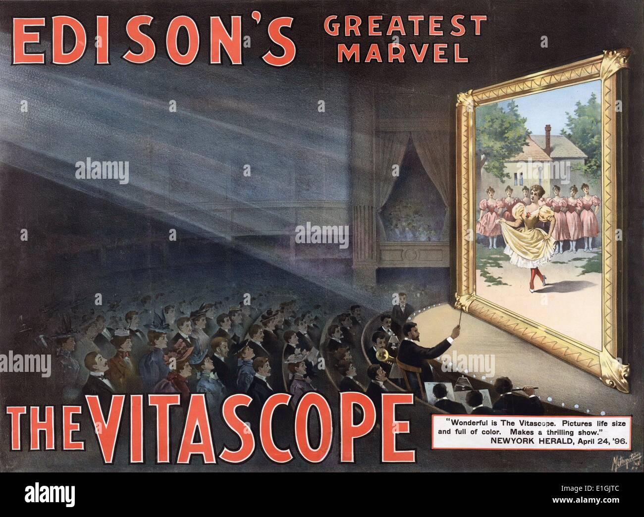 Vitascope a été l'un des premiers à projecteur de film d'abord démontré en 1895 par Charles Francis Jenkins et Thomas Armat. Photo Stock