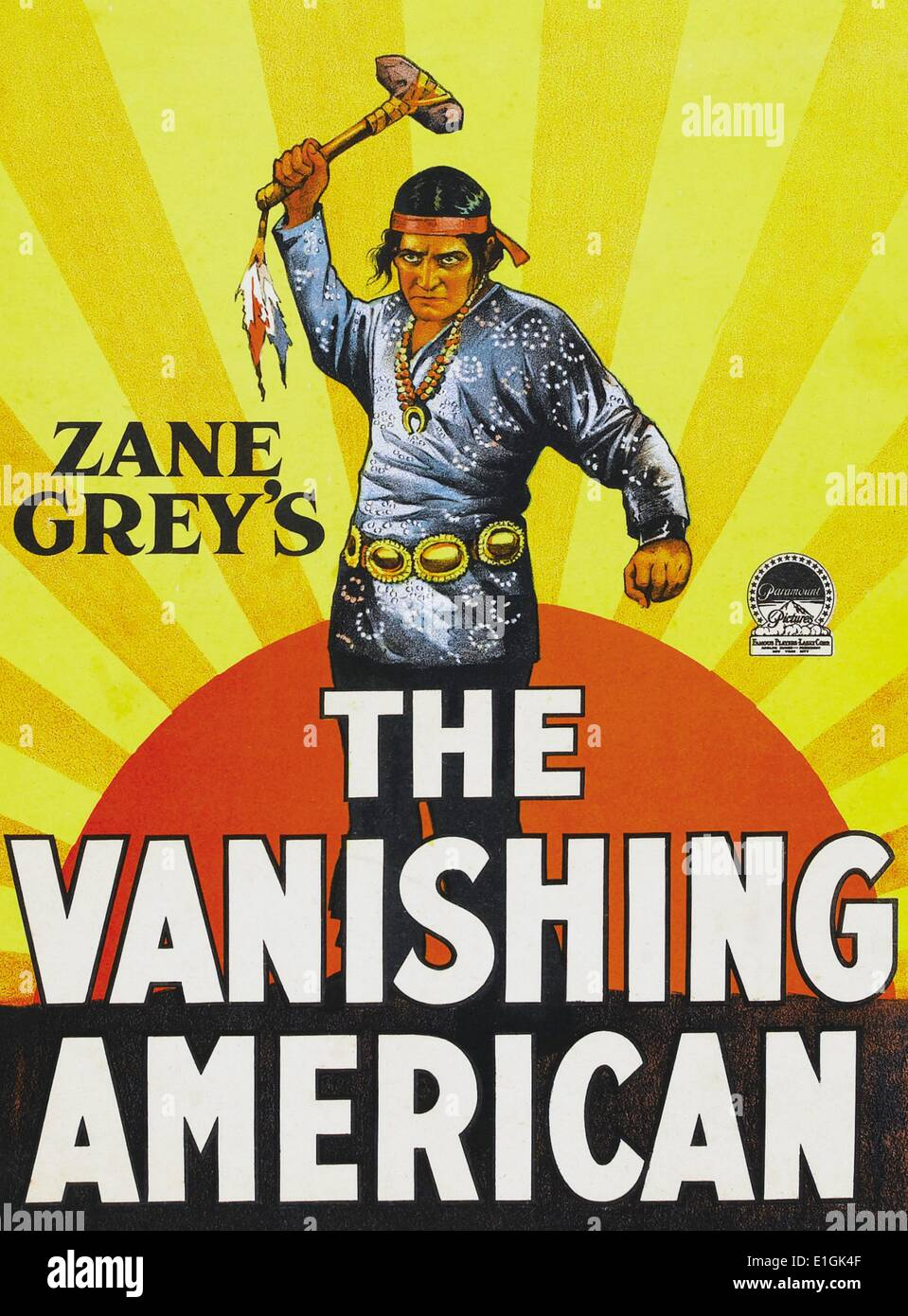 'The Vanishing American a silent film western avec Richard Dix. Photo Stock