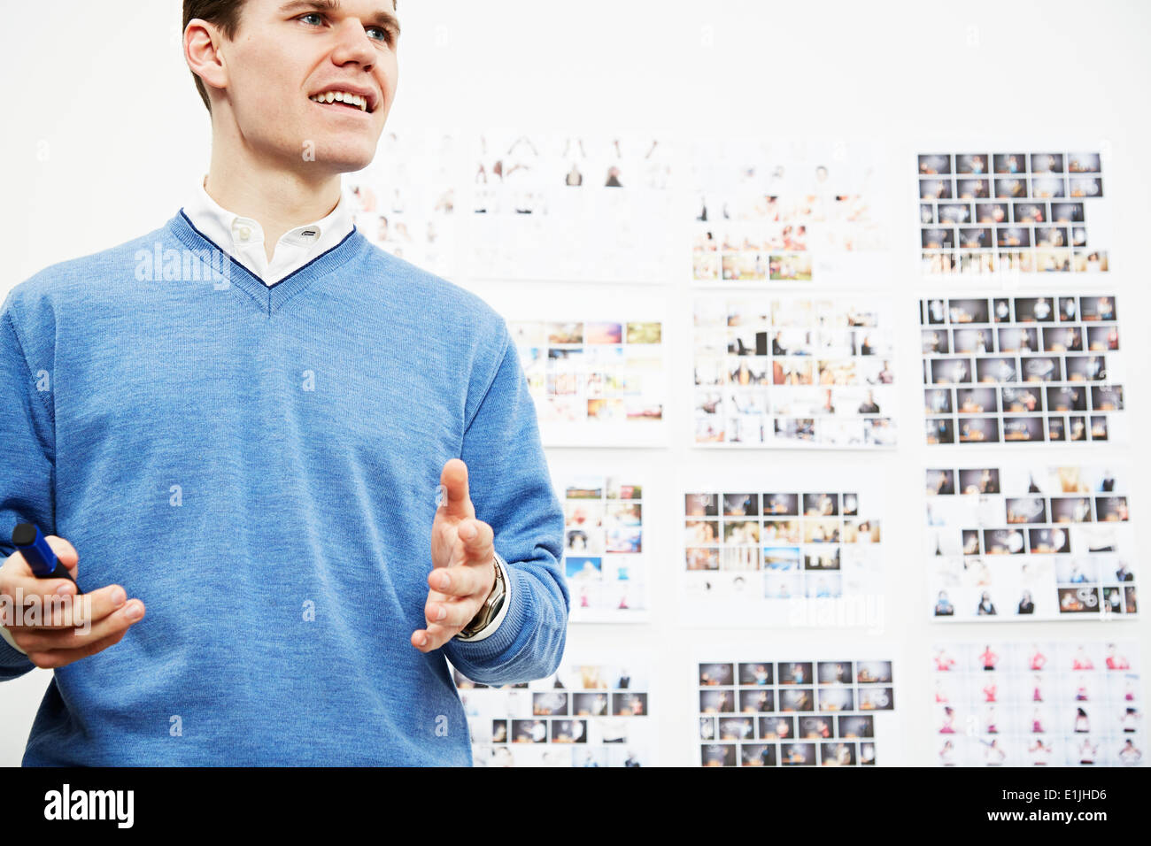 Jeune homme de creative studio Photo Stock