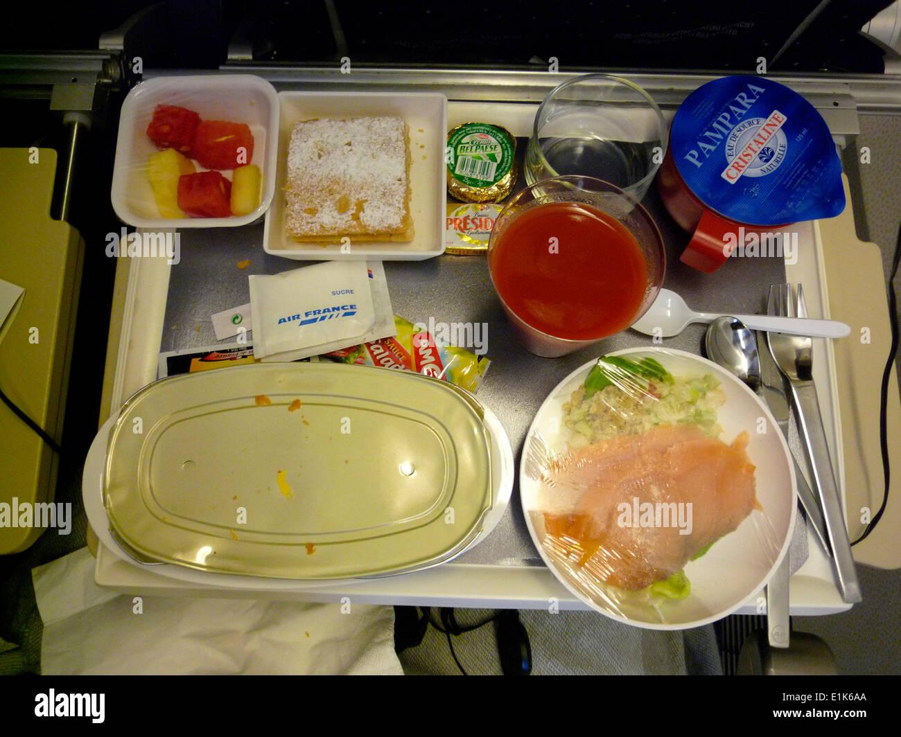 Repas d'avion Photo Stock