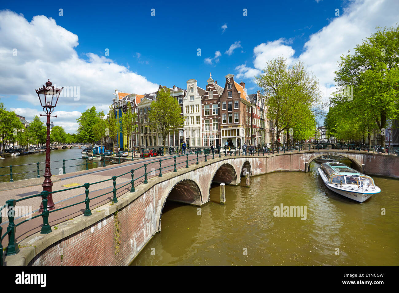 Canal Amsterdam - Hollande Pays-Bas Photo Stock