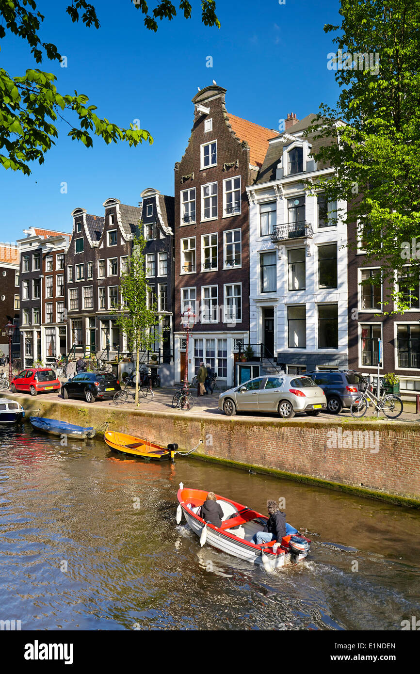Canal Amsterdam - Hollande, Pays-Bas Photo Stock