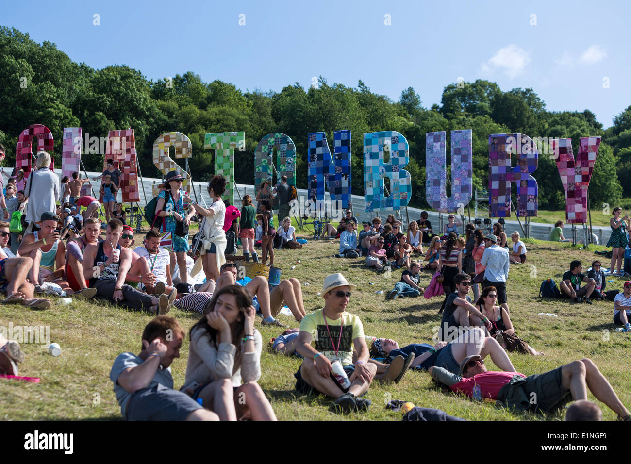 Inscrivez-Patchwork à Glastonbury. Glastonbury Festival 2013 Photo Stock