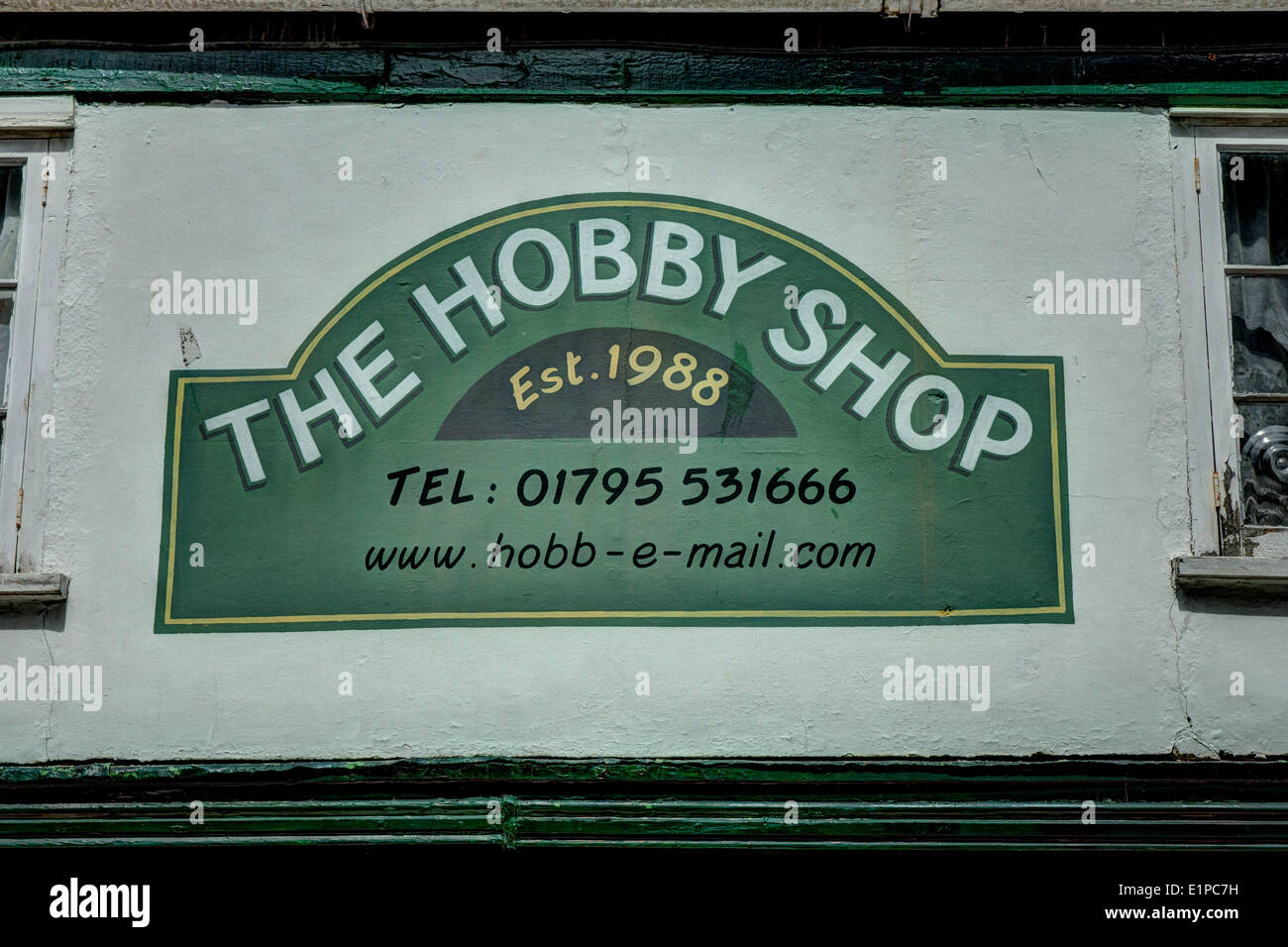 Hobby Shop sign Faversham Photo Stock