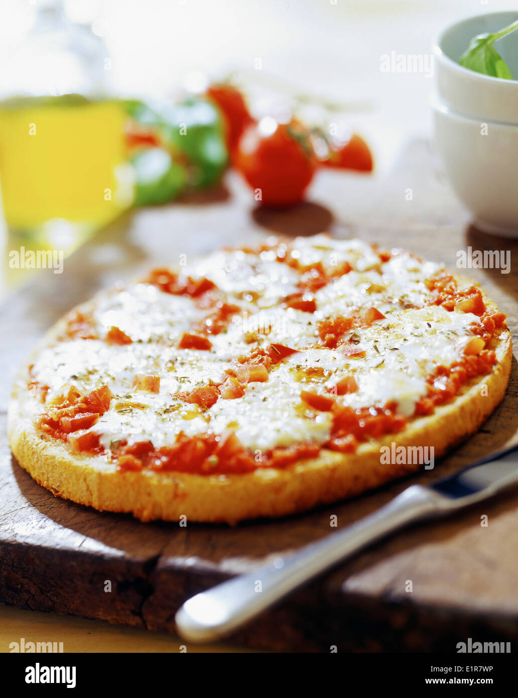 Pizza tomate-fromage Banque D'Images