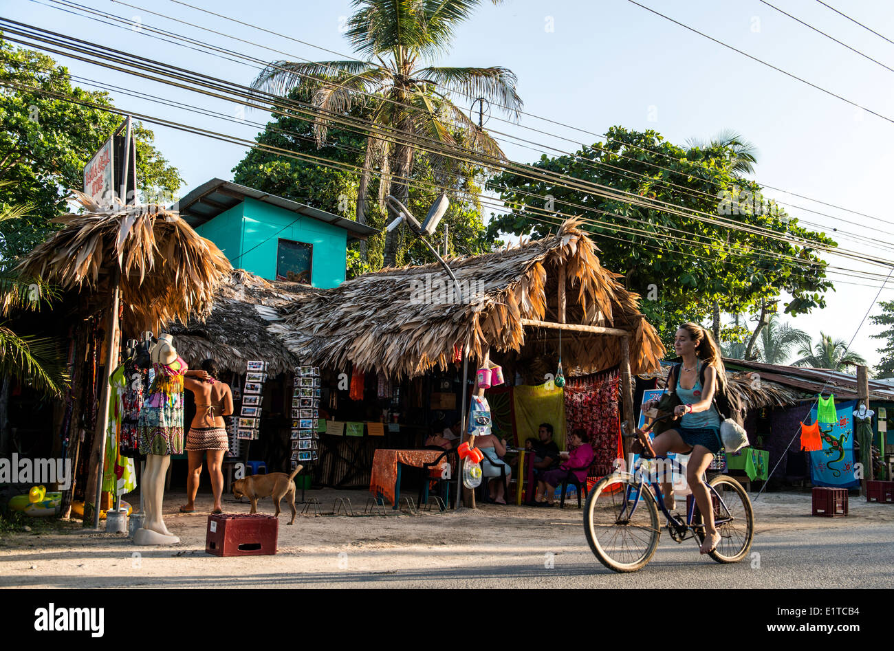 Vélo tourisme Puerto Viejo Limon Costa Rica Photo Stock