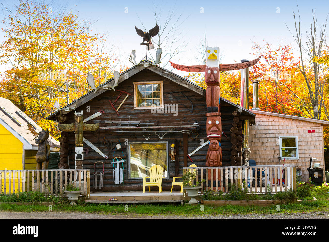 Boutique d'artisanat autochtone. Whycocomagh, Cap-Breton, Nouvelle-Écosse, Canada Photo Stock