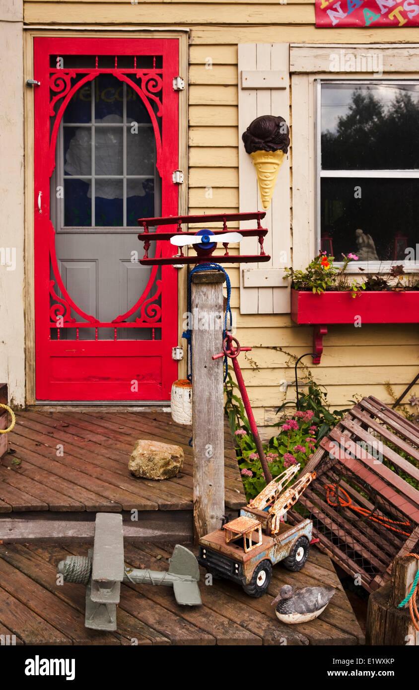 Maison pittoresque dans la zone rurale Saint Martins, New Brunswick, Canada Photo Stock