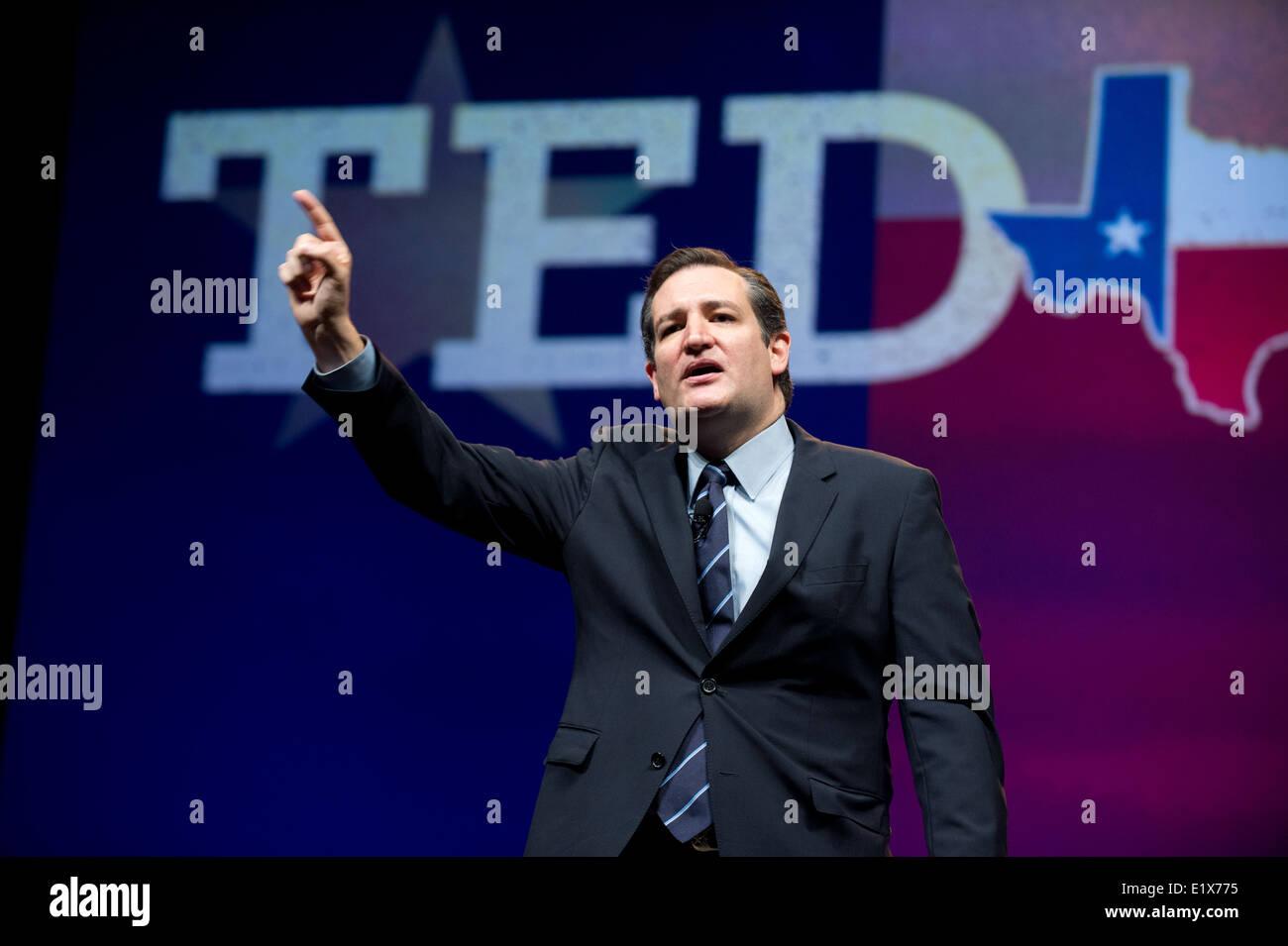 Le sénateur américain du Texas, Ted Cruz donne aux discours à la Convention républicaine du Texas à Fort Worth, Texas Banque D'Images