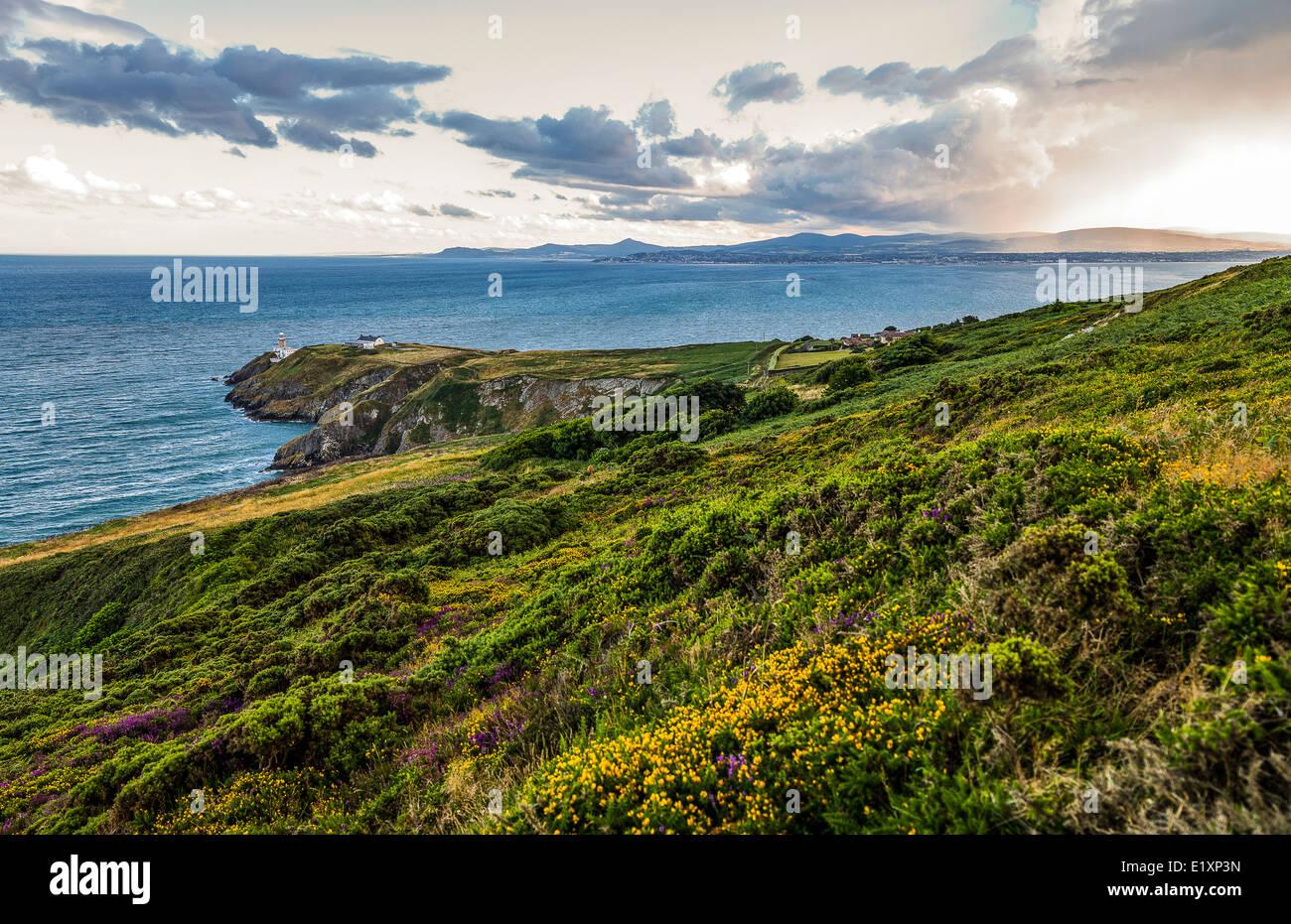 L'Irlande, Dublin County, la baie de Dublin Howth vu de la pointe Banque D'Images