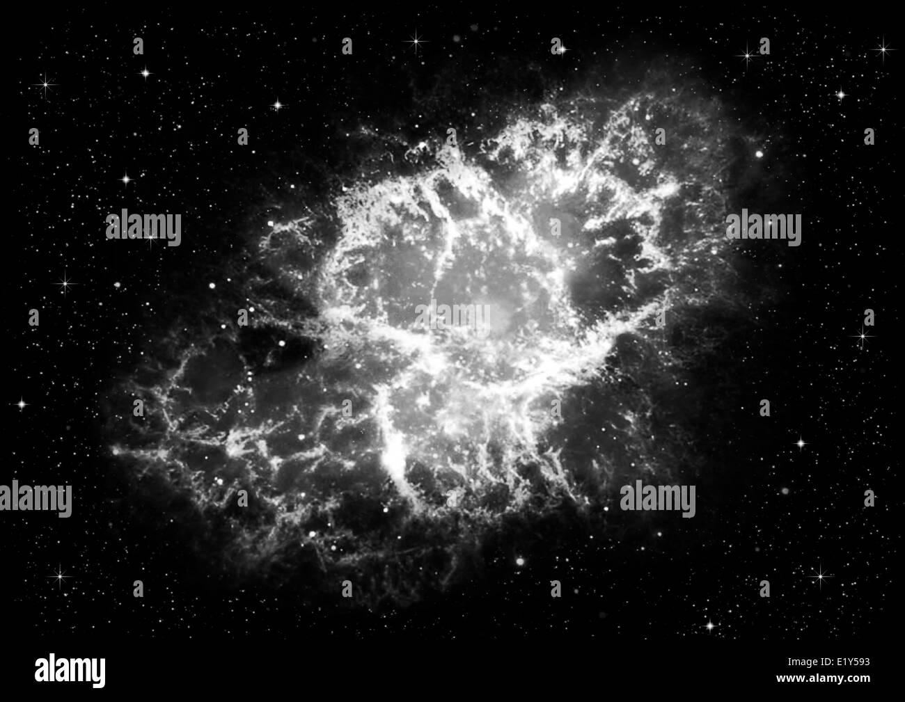 Étoile dans l'espace profond Photo Stock