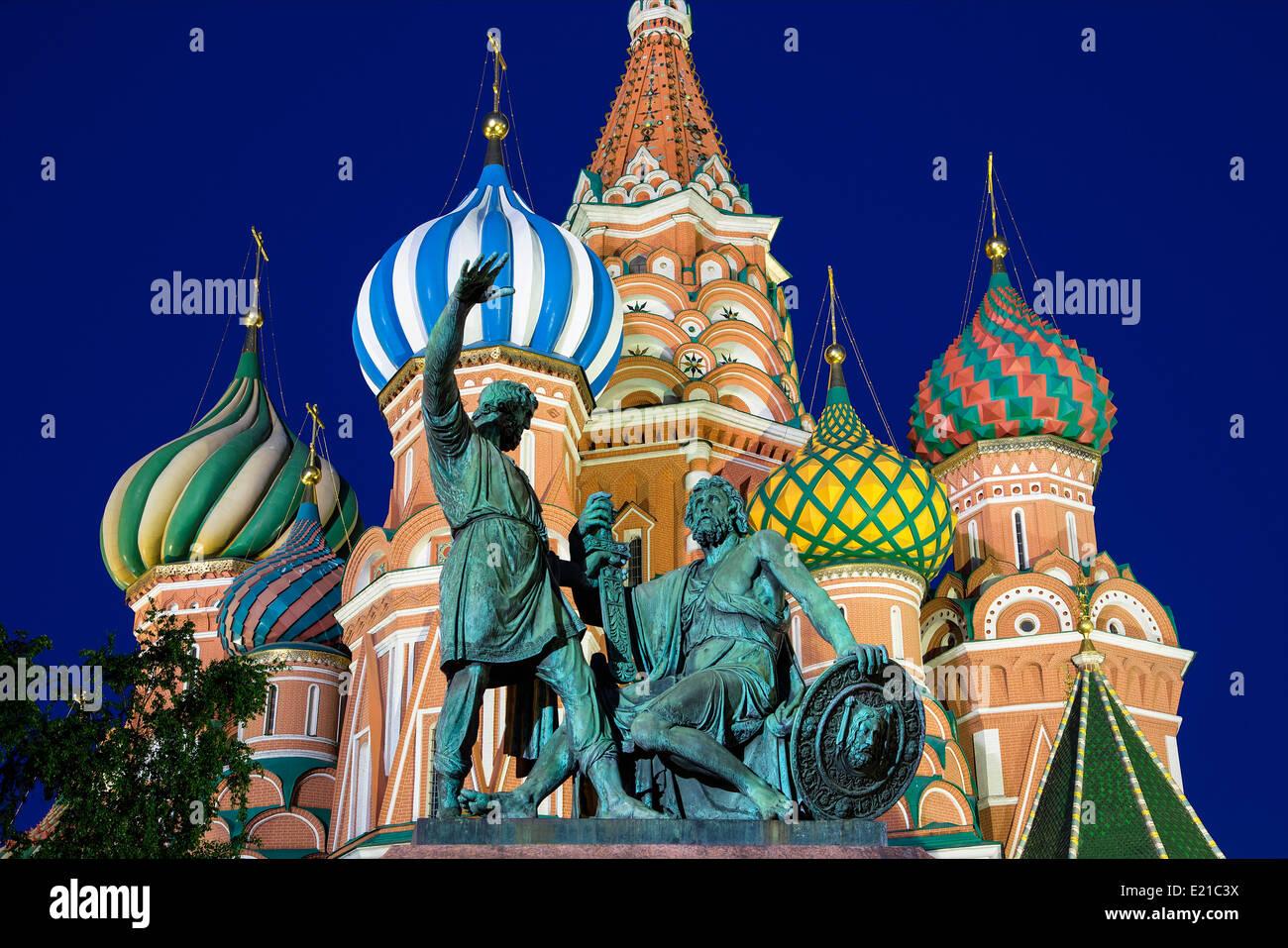 La Cathédrale Saint-Basile de la Russie à Moscou Photo Stock