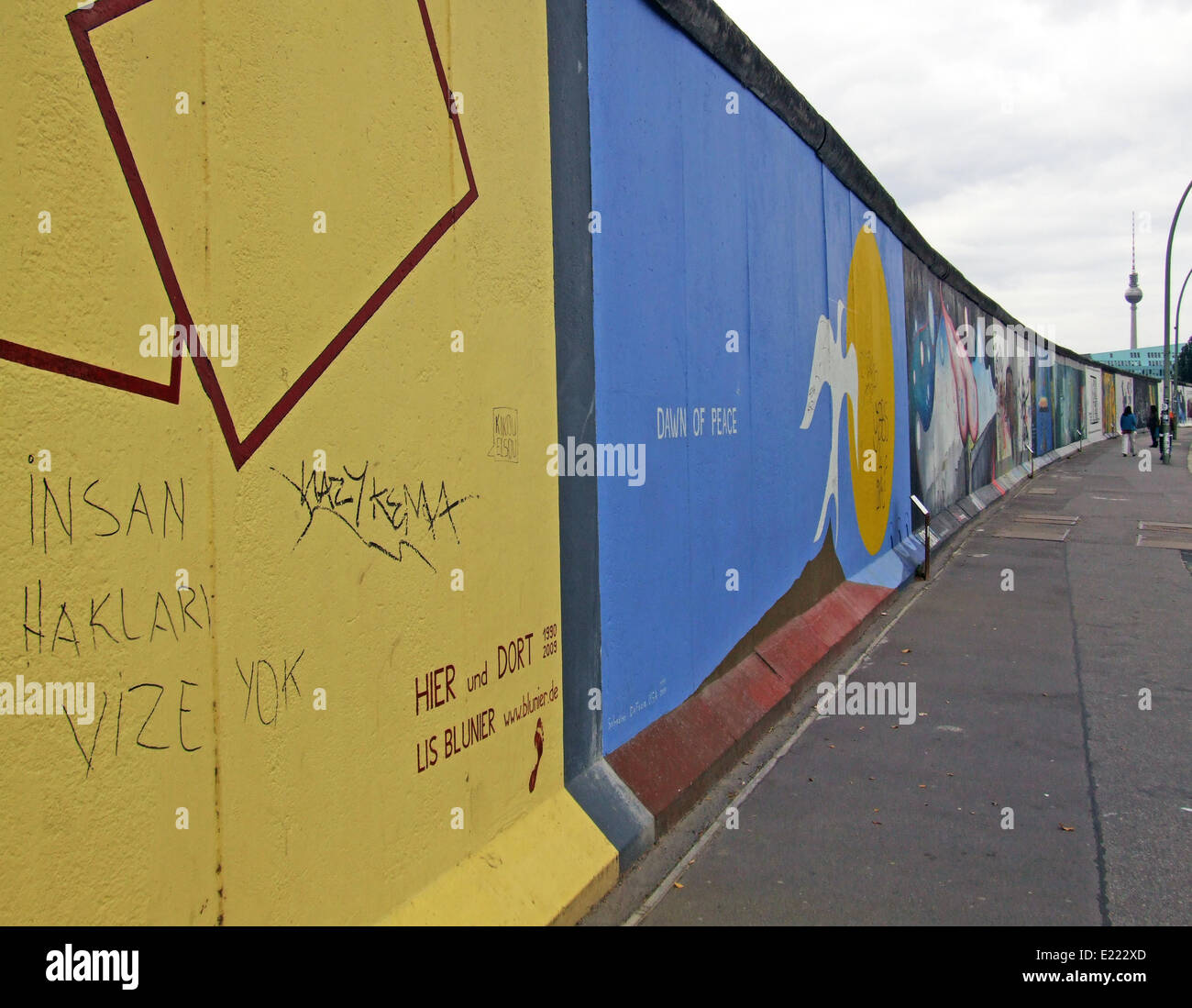 East Side Gallery Berlin Allemagne Photo Stock