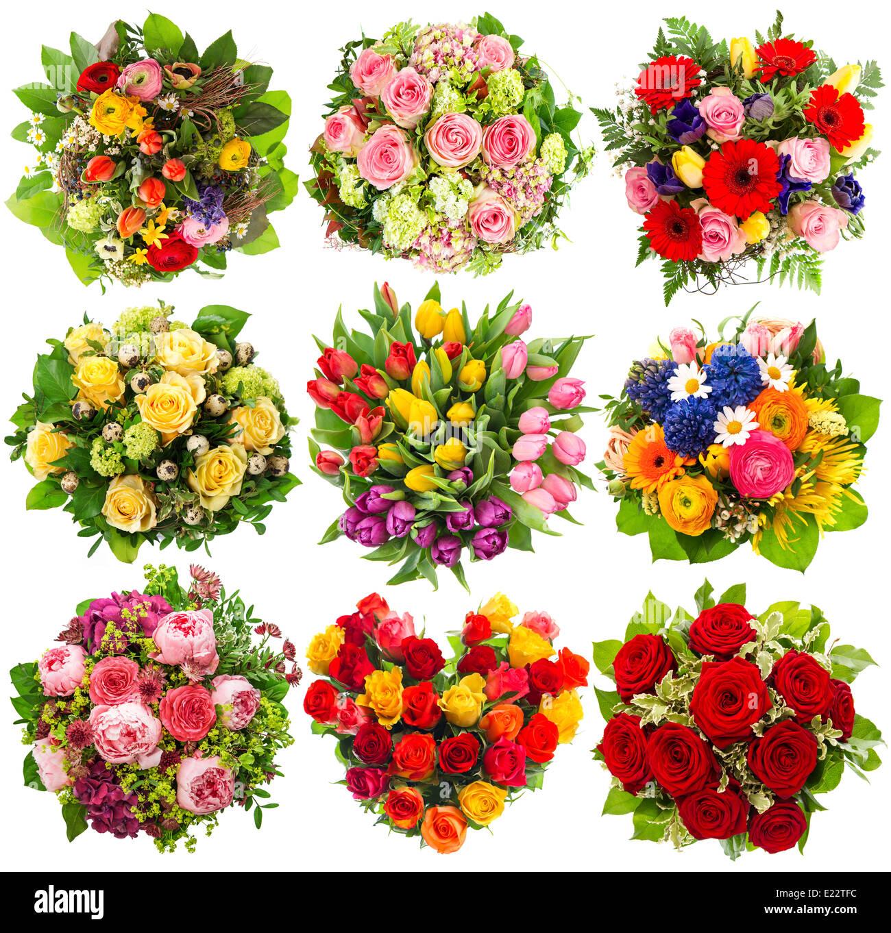 Bouquet De Fleurs Colorées Neuf Pour Anniversaire Mariage