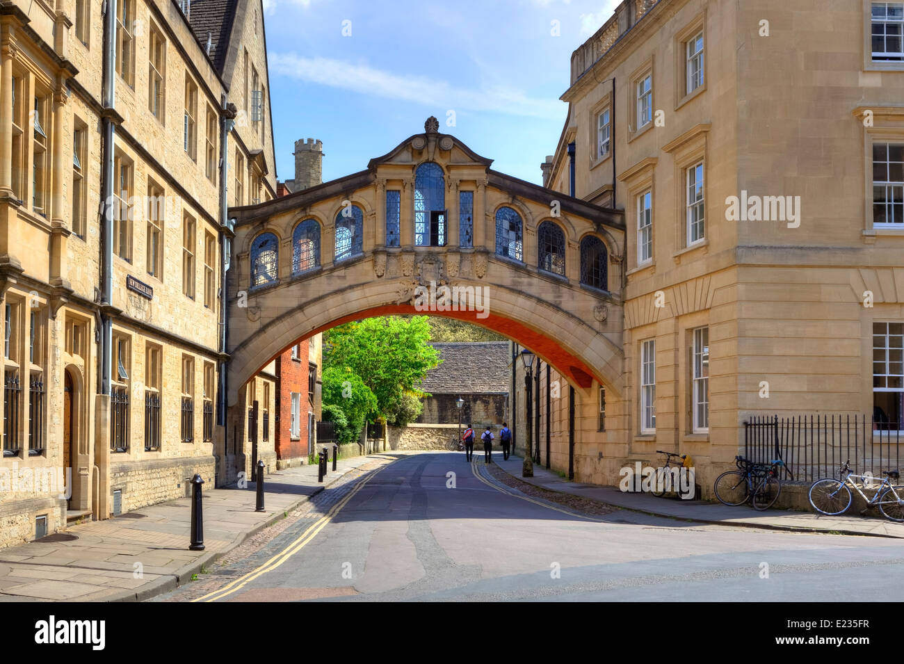 Pont des Soupirs, Oxford, Oxfordshire, Angleterre, Royaume-Uni Photo Stock