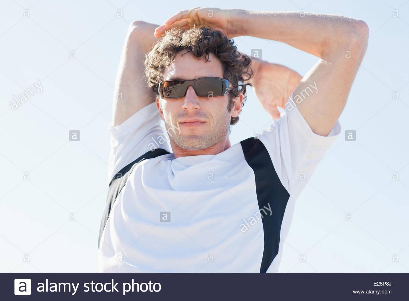 Dans l'homme sportswear Photo Stock