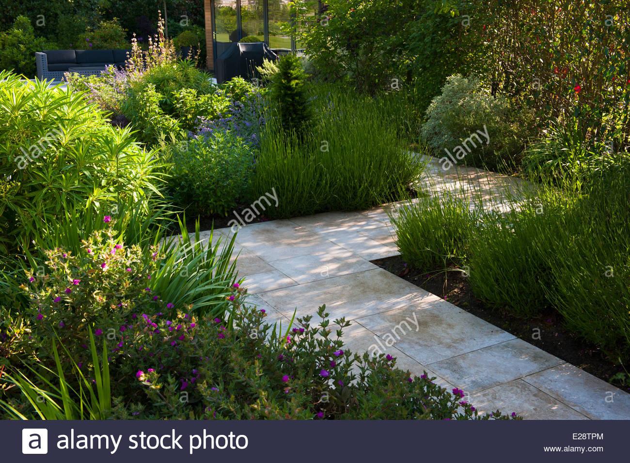 Jardin privé Hampshire concepteur Conception Aménagement paysager ...