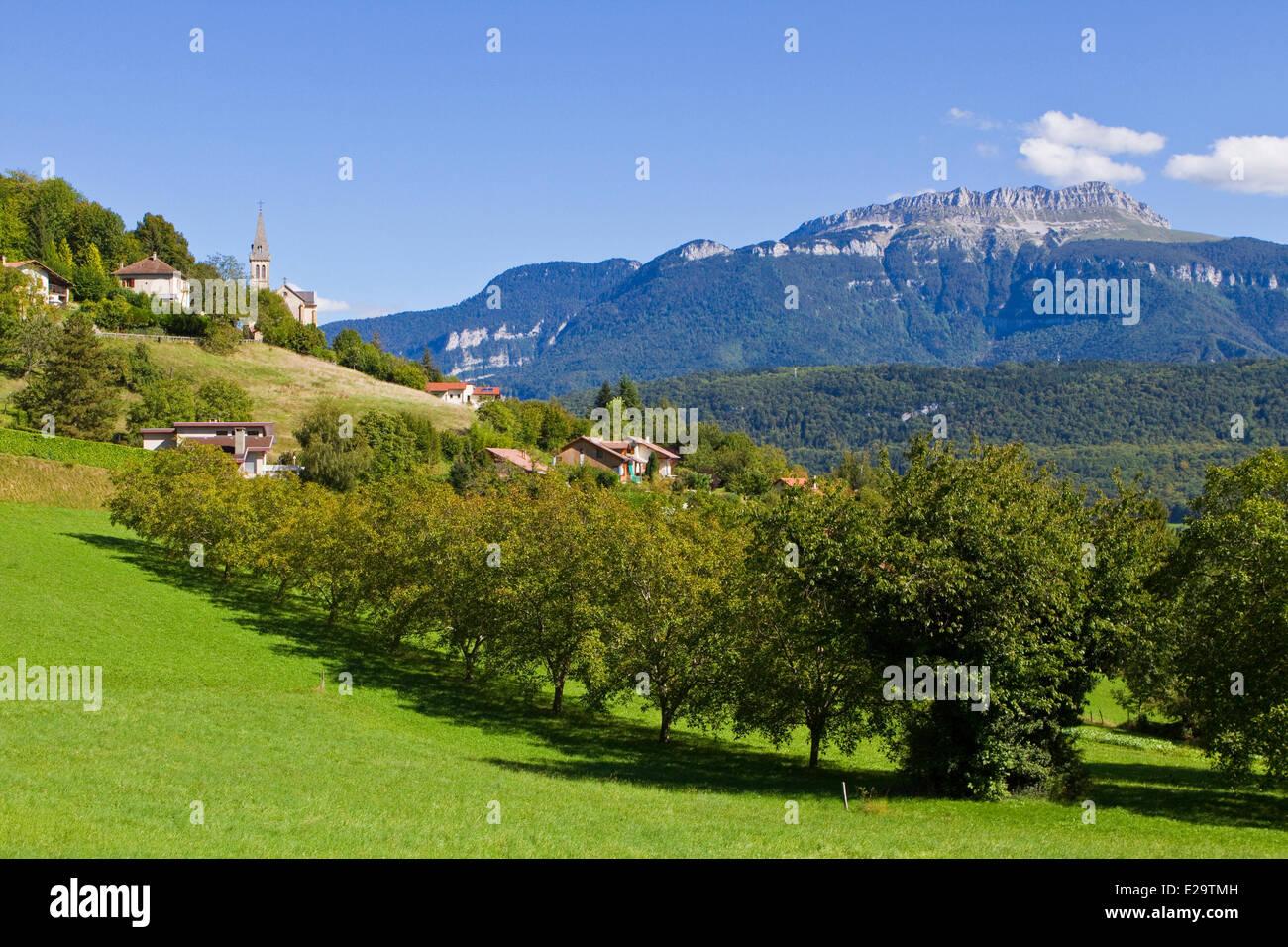 France, Isère, Voiron, Tolvon dans la Grande sûr contexte dans le Parc naturel régional de Chartreuse Photo Stock