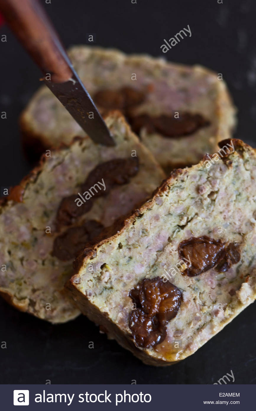 La France, Cantal, Saint Flour, pounti fiche Delmas Francis Anderson du Restaurant Photo Stock