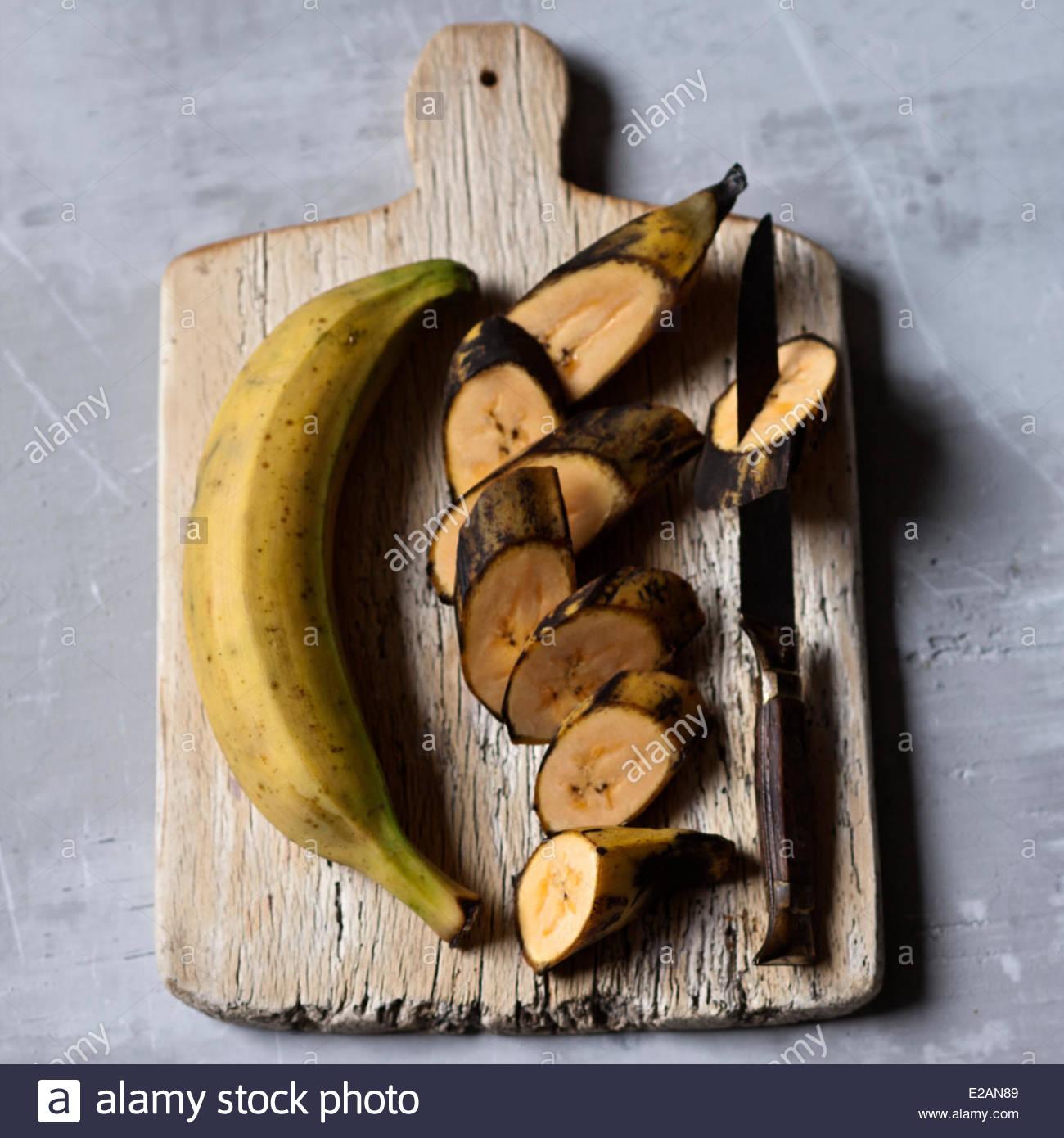 Gastronomie général, plantain, styling, Valérie Lhomme Photo Stock
