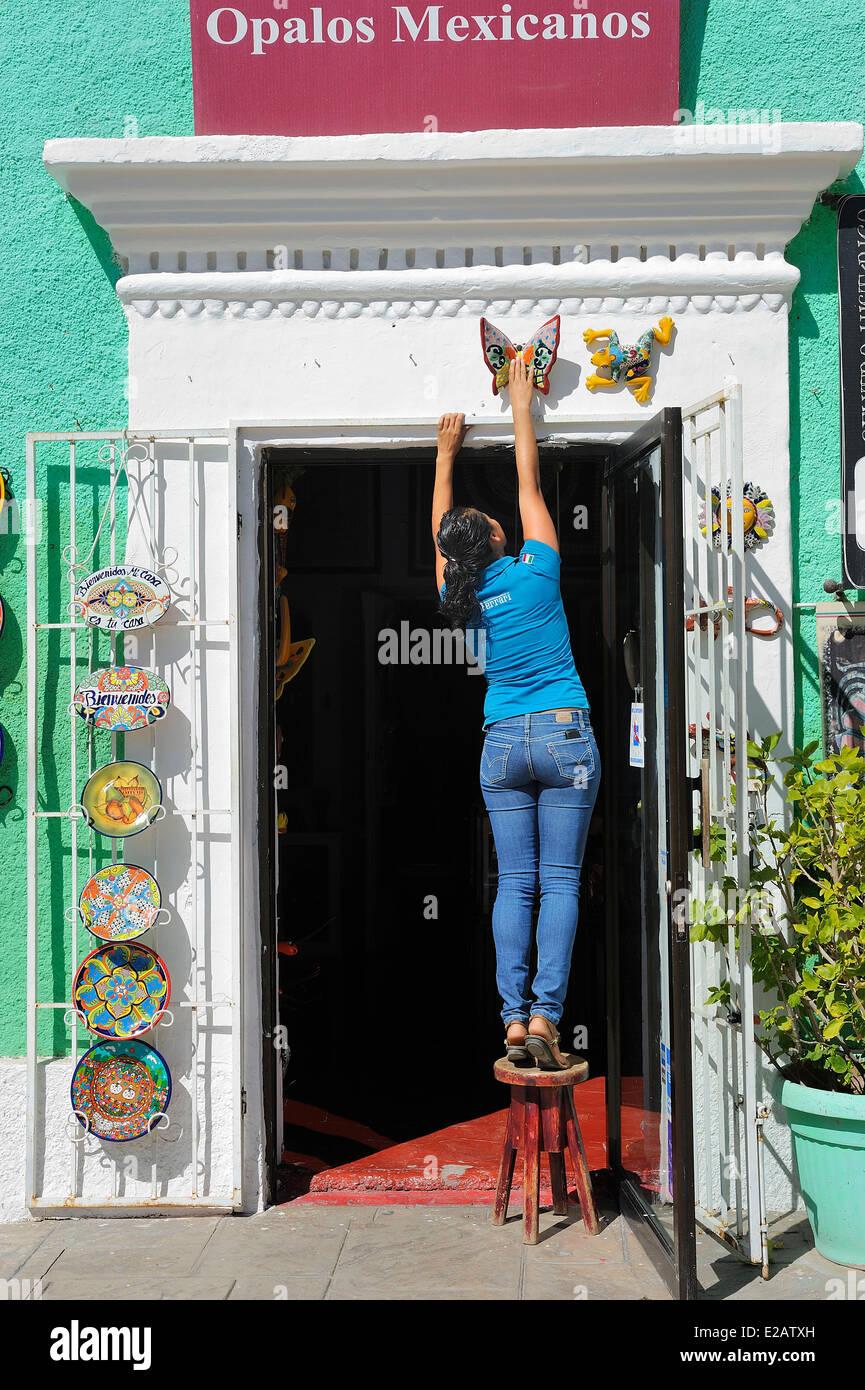 Le Mexique, l'État de Baja California Sur, San Jose del Cabo, magasin d'Artisanat Photo Stock