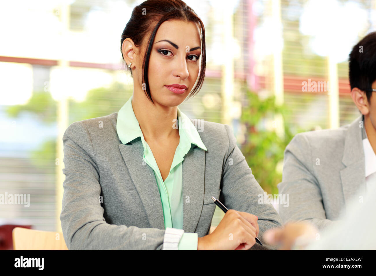 Portrait of a serious businesswoman in office Photo Stock