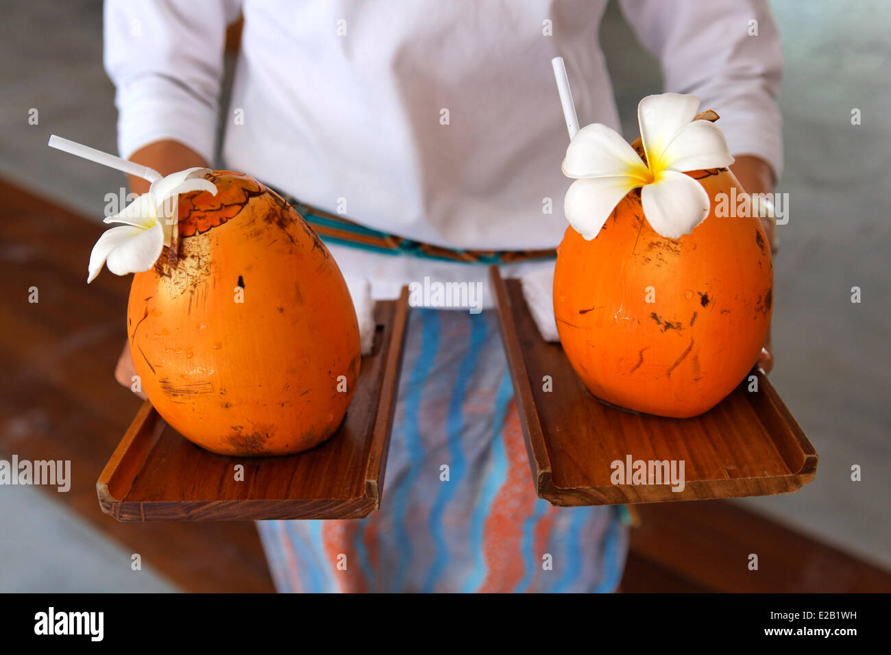 Baa Atoll, Maldives, Fours Seasons Landaa Giraavaru hôtel Photo Stock