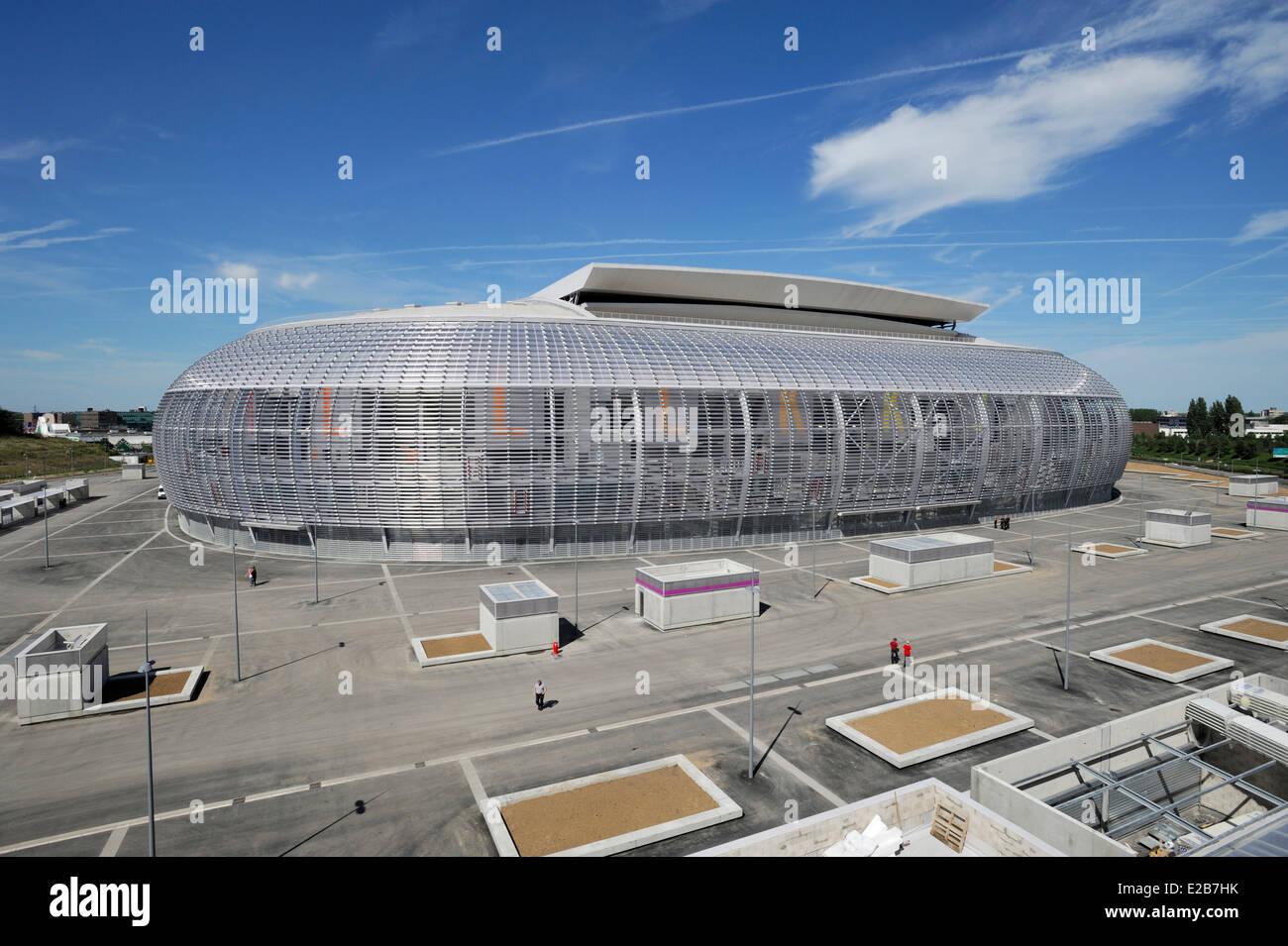 france, nord, villeneuve d'ascq grand stade lille métropole, conçu