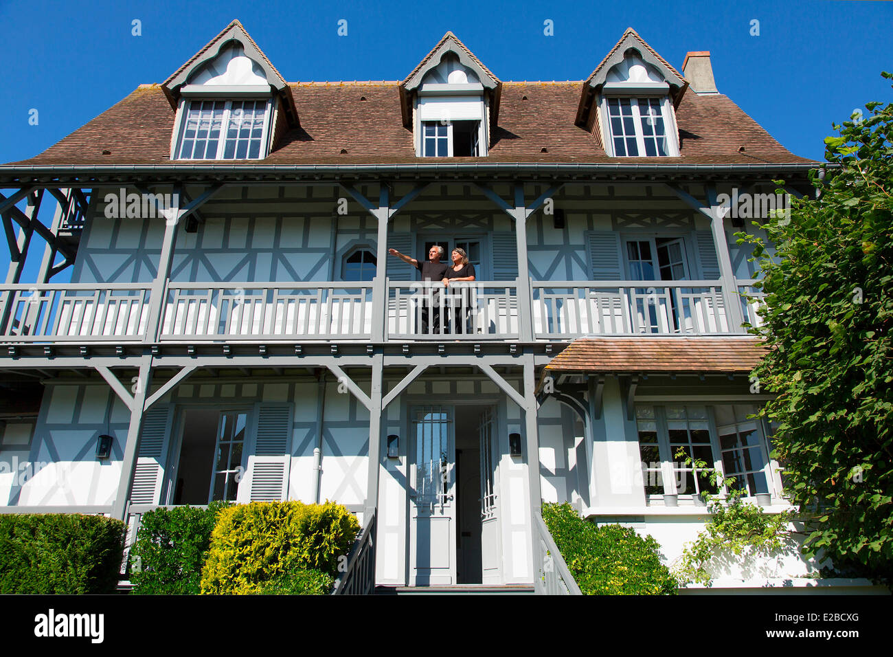 France, Calvados, Trouville sur Mer, la villa Photo Stock