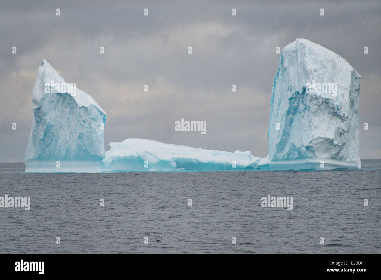 Le Groenland, Nutaarmiut, région de la baie de Baffin, Iceberg Photo Stock