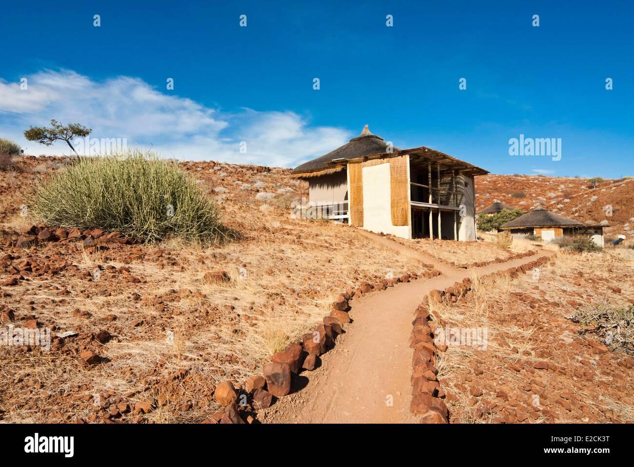La Namibie, région de Kunene, Damaraland, Damaraland Camp Banque D'Images