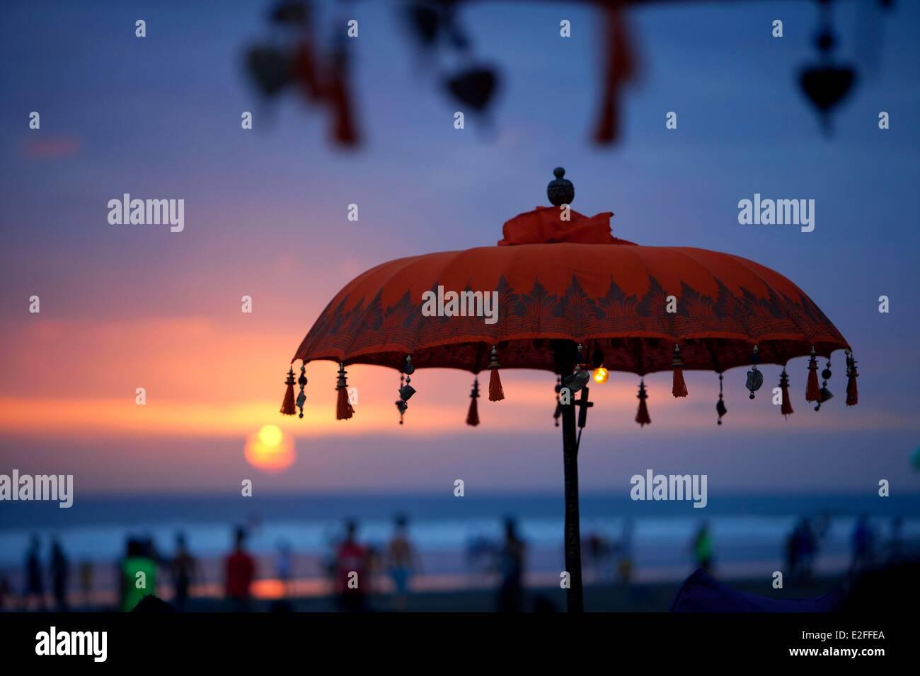 L'INDONÉSIE, Bali, Seminyak Beach Photo Stock