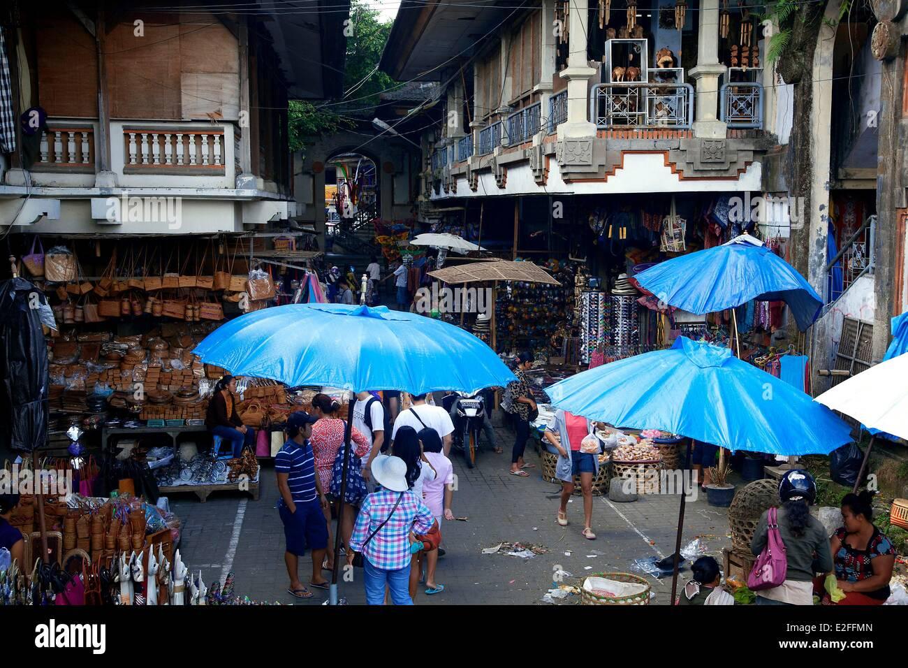 L'INDONÉSIE, Bali, Ubud, Pasar Seni, le marché artisanal Photo Stock