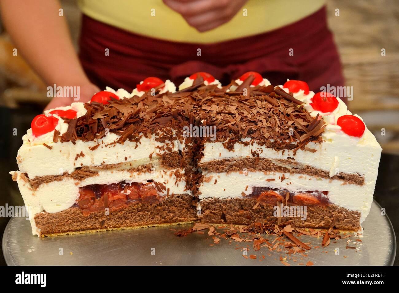 Allemagne Baden Wurtemberg Durbach gâteau Forêt Noire (Schwarzwalder  Kirschtorte)