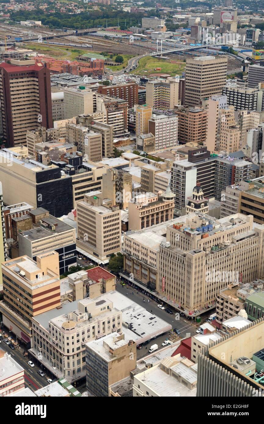 L'Afrique du Sud la province de Gauteng Johannesburg CBD (Central Business District) vue sur le centre-ville Photo Stock