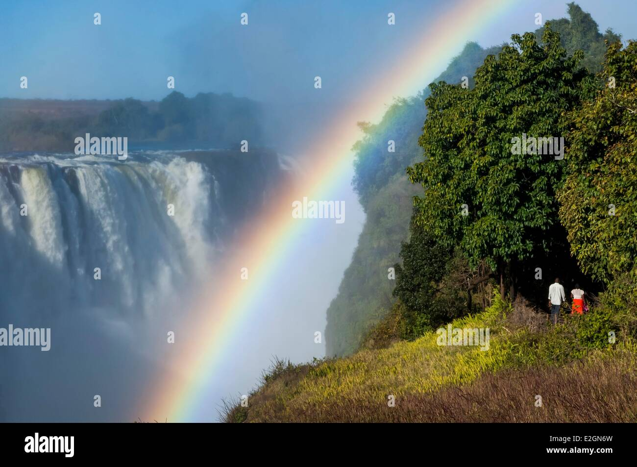 Zimbabwe Département Mosi oa Victoria Falls ou Tunya inscrite au patrimoine mondial de l'UNESCO Photo Stock