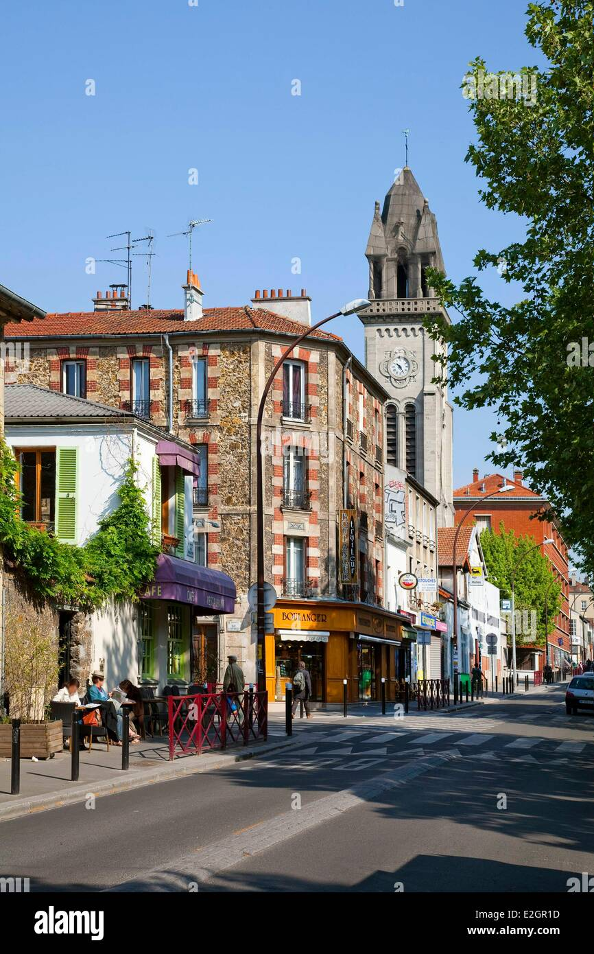 France Seine Saint Denis Montreuil Rue Robespierre Photo Stock